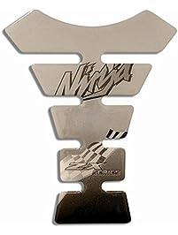 Yana Shiki USA GTP018 Silver/Black Tank Pad (Kawasaki Ninja)