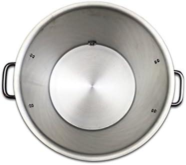 Coldbreak Brewing Equipment CBK10GSSV Brewing Stock Pot with Stainless Ball Valve