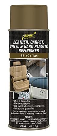 SM Arnold (65-202) Leather, Carpet, Vinyl & Hard Plastic Refinisher, Light Beige - 11 oz. S. M. Arnold