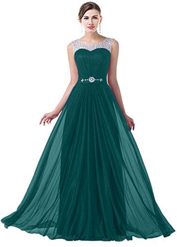 VaniaDress Women Elegnat Rhinestone Bridesmaid Evening Dress Prom Gown V004LF Teal Green US6 from VaniaDress