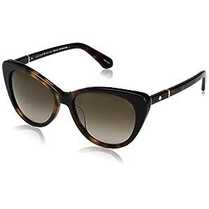Kate Spade Women's Sherylyn/s Cateye Sunglasses, Havana Black/Brown Gradient, 54 mm