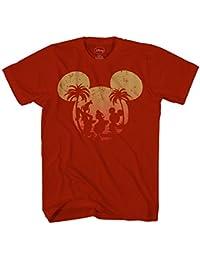 Mickey Mouse Donald Duck Goofy Sunset Disneyland Disney World Funny Mens Adult Graphic Tee T-shirt