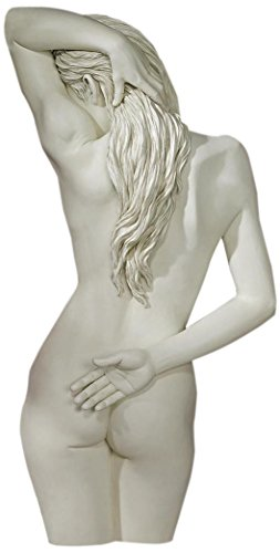 Design Toscano Sweet Surrender Woman Wall Decor Sculpture, 27 Inch, Polyresin, Antique Stone