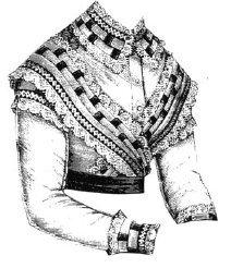 Bretelles Costume (1869 Corsage with Bretelles Pattern)