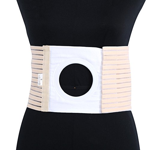 Fitlyiee Elastic Ostomy Hernia Belt for Waist Abdominal with Breathable Stoma Opening (L)