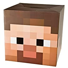 "Minecraft 12"" Steve Head Costume Mask"