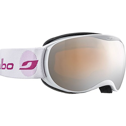 Julbo Eyewear Unisex Atmo (4-7 Years Old) White/Pink With Spectron 3 Silver Flash Lens One Size