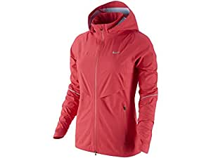 Women's Nike Rain Runner Running Jacket Action Red 616248-660 Size L