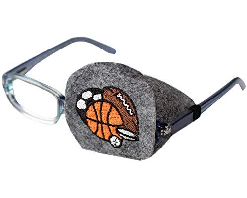 Eye Patch - Left Coverage Child Sports Balls Eye Glass Eye Patch by Patch Pals from Patch Pals