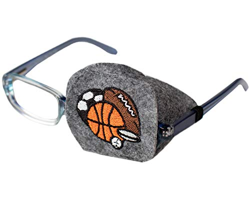 Eye Patch - Left Coverage Child Sports Balls Eye Glass Eye Patch by Patch Pals