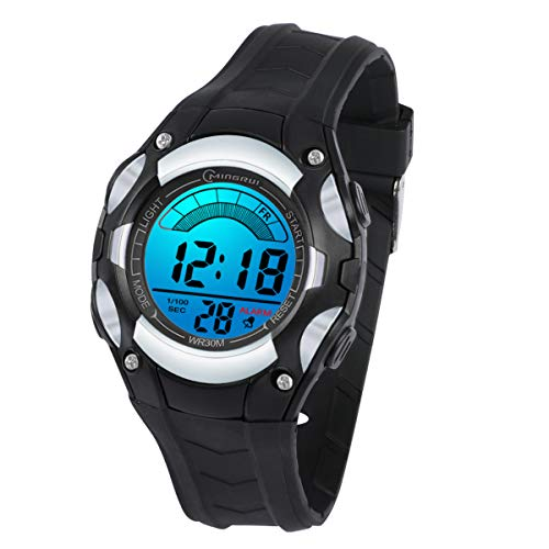 Kids Watches Digital for Girls Boys,7 Colors LED Waterproof Wrist Watches for Child Sport Outdoor Multifunctional Wrist Watches with Stopwatch/Alarm