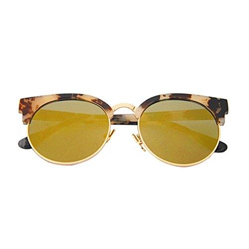 Pink Frame Grey Shaded Lenses (Hemss V Brand Eyeglass Frame Retro Large Round Metal Frame Sunglasses)