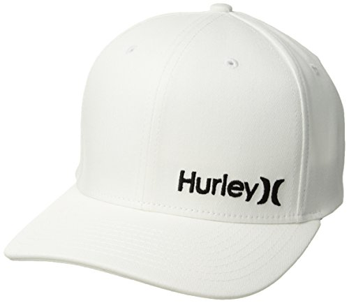 Hurley Corp Hat - White / Black - S/M - Skate Cap Hat