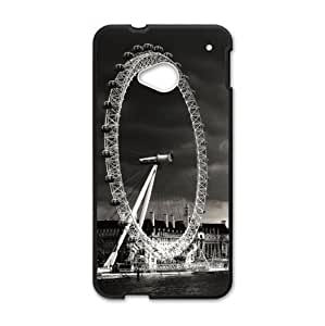 Classic London Eye Pattern Design HTC One M7 (Laser Technology) Case, Cell Phone Cover