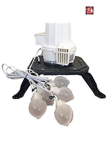 AIR CHARACTERS Replacement TH-BL3-N-1 Fan with Base and Lights for Gemmy Airblown Inflatables