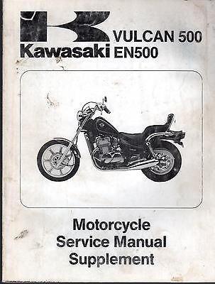 1990 KAWASAKI VULCAN 500 & EN500 SERVICE MANUAL SUPPLEMENT P/N 99924-1125-51 (Kawasaki En500 Manual)