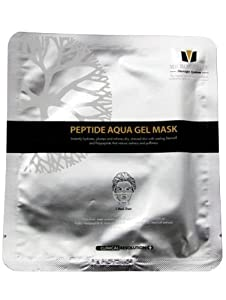 MTS Peptide Aqua Gel Mask, Hydrating, Soothing, Cooling, Healing, Post-Treatment, Post-rolling, Reduce Redness and Stinging Feeling