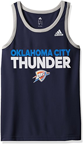 fan products of NBA Oklahoma City Thunder Men's Tip-Off Performance Tank Top, Small, Navy