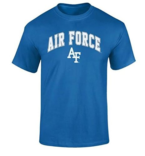 - Elite Fan Shop NCAA Men's Air Force Falcons T Shirt Team Color Arch Air Force Falcons Blue X Large