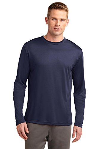 Sport-Tek Long Sleeve PosiCharge Competitor Tee, True Navy, - Sports Long Runner Sleeve