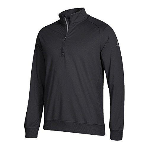 adidas Golf Men's Classic Club 1/4 Zip Pullover Top, Black, XX-Large ()