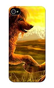 Anettewixom Case Cover Protector Specially Made For Iphone 5/5s Native American With A Wolf