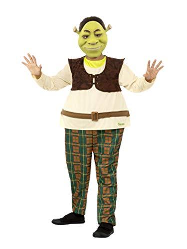 Deluxe Shrek Costumes - Smiffys Officially Licensed Shrek Kids Deluxe