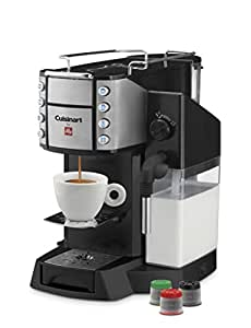 Cuisinart EM-600 Buona Tazza Superautomatic Single Serve Espresso Caffe Latte Cappuccino and Coffee Machine, Black