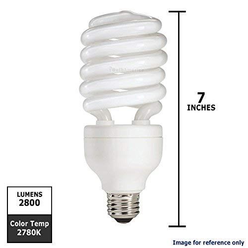 Philips 139477 42-watt Equivalent, Soft White (3000K) 15-watt T4 Spiral CFL Light Bulb (42w Spiral Cfl)