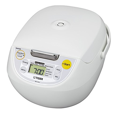 $149.88 (was $169.99) Tiger JBV-S18U Microcomputer Controlled 4 in 1 Rice Cooker, 10 Cups Un-Cooked, White