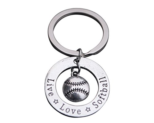 Infinity Collection Softball Keychain, Softball Gift, Girls Softball Jewelry, Perfect Softball Player, Team and Coaches Gifts -