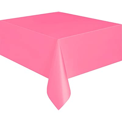 Unique Industries Hot Pink Plastic Table Cover 54'' x 108'' Rectangle: Toys & Games