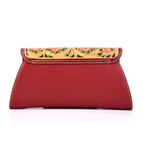Chinese Package Diagonal Clutch Bag Magnetic Craft Embossed Red Bag Long Temperament Ethnic Ladies Carving Buckle Strap Retro Shoulder Style Women's With pvx8zqw