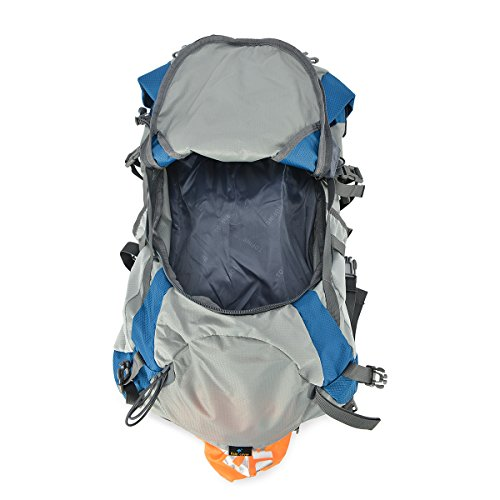 TOFINE-Waterproof-External-Frame-Hiking-Pack-Travel-Bag-for-Women-with-Rain-Cover-Blue-48-Liter