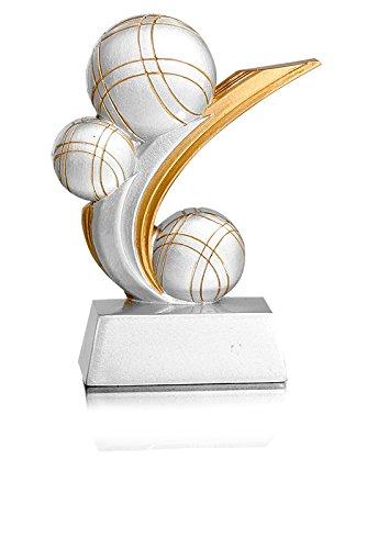 DEPICE Erwachsene Boccia Pokal/Trophäe, Silber/Gold, 13cm DEPI6|#DEPICE TRO-FS-31908