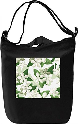 Chamomiles Pattern Borsa Giornaliera Canvas Canvas Day Bag| 100% Premium Cotton Canvas| DTG Printing|