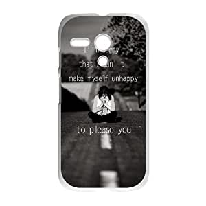 Motorola G Cell Phone Case White quotes parallax sorry unhappy to please you LV7120576