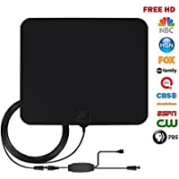 HD TV Antenna, Okela 50-70 Miles Long Range Indoor Amplified Digital HDTV Antenna for HD Signal Reception, Detachable Amplifier Signal Booster, USB Power Supply and 13FT High Performance Coax Cable