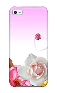 Hot Sanp On Case Cover Protector For Iphone 5c (roses & Love Hearts)