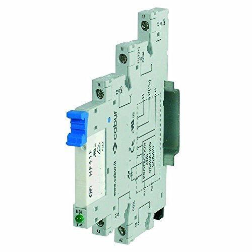 ASI X766848 CWRE7-0848 Pluggable SPDT Relay with DIN Rail Mount Terminal Block Base, 6 amp, 250 VAC Max Switching, 12 VAC/DC Coil