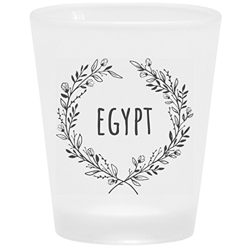 Egypt Floral Drinking Gift: Frosted Shot Glass -