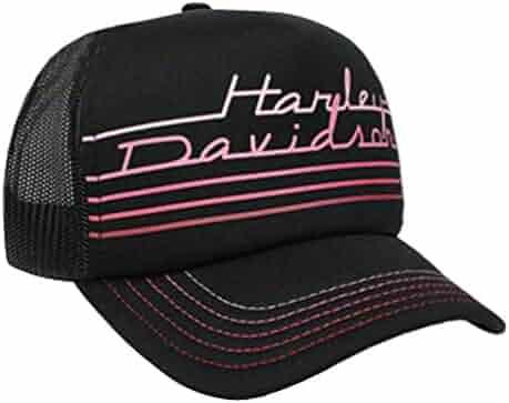 9c07ed98e8a Harley-Davidson Women s Throwback Mesh Snap Back Trucker Cap