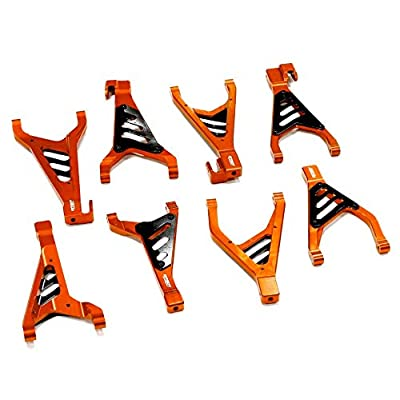 Integy RC Model Hop-ups T4149ORANGE Billet Machined Type II Suspension Kit for Traxxas 1/10 Revo & E-Revo: Toys & Games