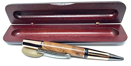 Rose Gold Texas Mesquite Ballpoint SoHo Pen - Bendecidos Pens - Handmade Wood Pen Great for Valentines Day, Birthday, Anniversary or Wedding Gifts