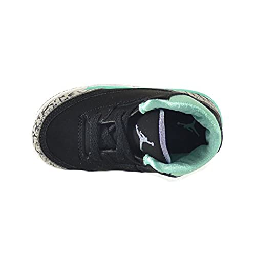 187d50a60f1ecd Jordan 3 Retro GT Baby Toddlers Shoes Black Iron Purple Bleached Turquoise  Wolf