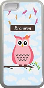 "NADIA Magic Diy ""Bronwen"" Name - Cute Pink Owl on Branch with Personalized Name Design iPhone 5c case cover for Apple iPhone 5c sell on Zeng case cover Wc95zybEBNS"