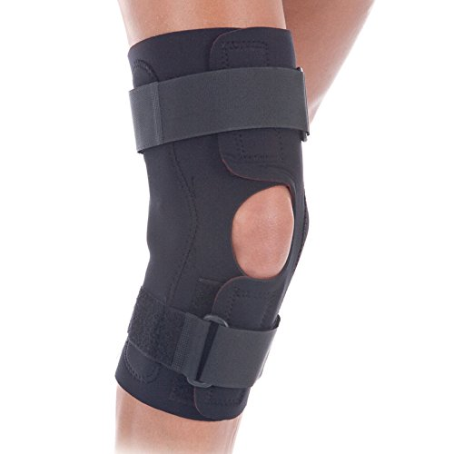 RolyanFit Wraparound Hinged Knee Brace, Comfort Wrap Knee Support & Stabilizer for Right or Left Leg, Supports Knee Joints & Muscles for Sports Wear, Low Profile Hinges & Secure Straps, Large