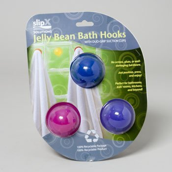 JELLY BEAN BATH HOOK- BERRIES 3PK, Case Pack of 4, Case Pack