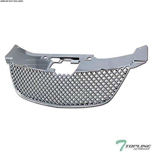 (Topline Autopart Chrome Mesh Front Hood Bumper Grill Grille ABS For 07-10 Chrysler Sebring)