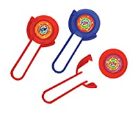 """Party Perfect Disc Shooter Favours, Plastic, 4"""" x 2"""", Pack of 12"""